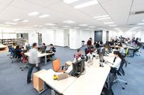 広々とした快適なオフィスは仕事効率にも好影響