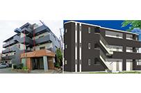 自社再生物件と、新事業の<br />新築アパートです。
